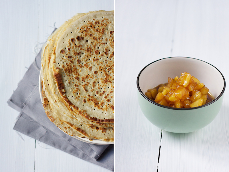 Buckwheat Crepes with Caramelised Apples - On cremedecitron.com