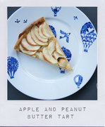 Apple and peanut butter tart
