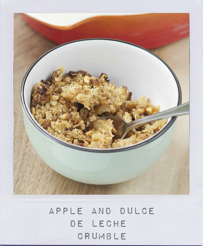 Apple and Dulce de Leche Crumble Recipe - On Crème de Citron