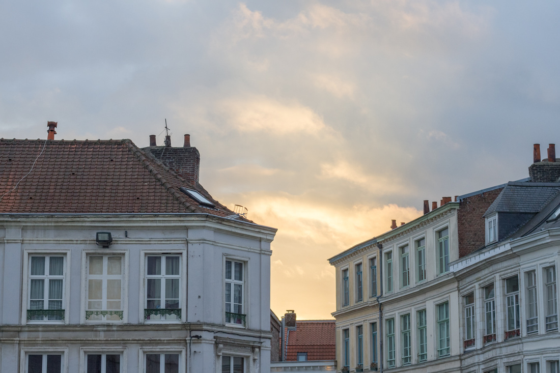Sunset in Lille, France