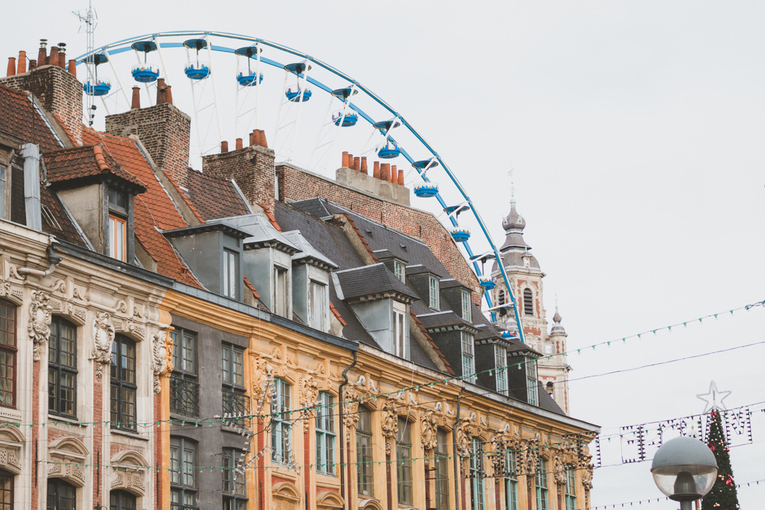 Lille, France, at Christmas time
