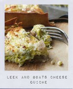 Leek and Goats Cheese quiche