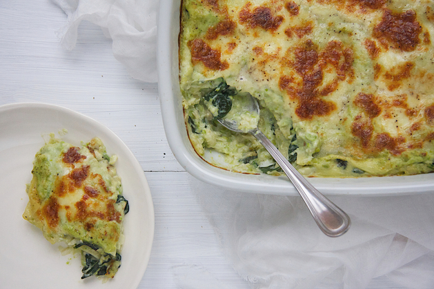 Garden Peas, Spinach and Cod Lasagne Recipe