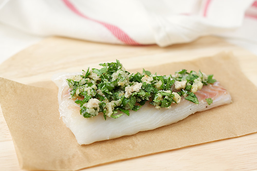 Almond and parsley crumbed cod recipe