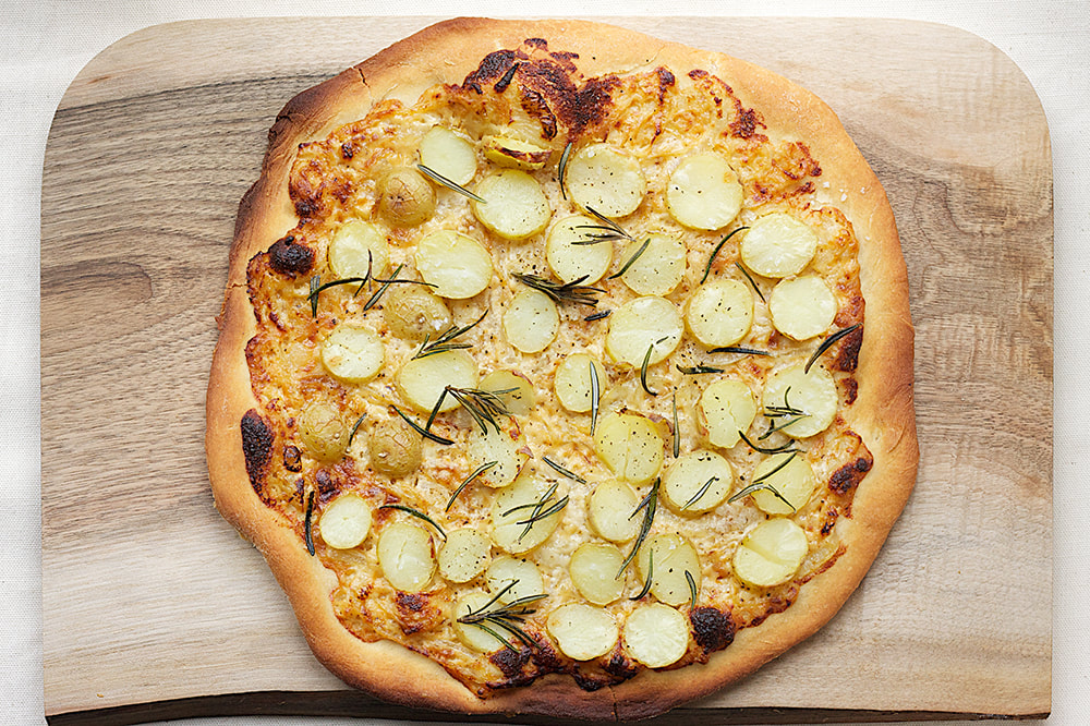 Baby Potatoes Pizza Recipe