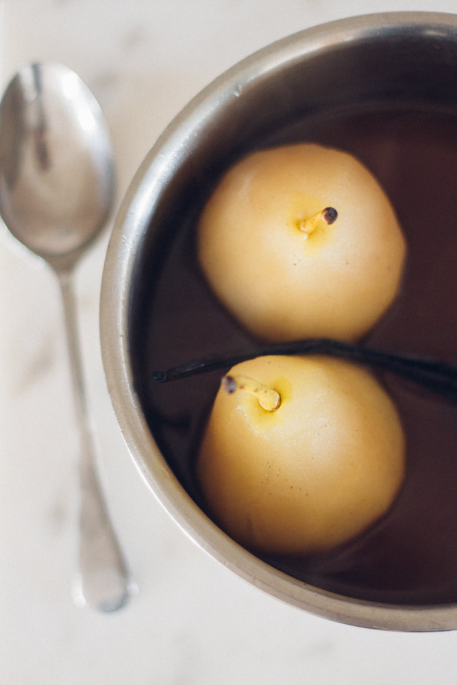 Pears Belle Hélène with Tonka Chocolate Sauce Recipe