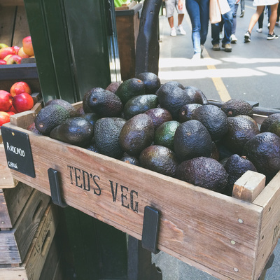 Avocado at the Borough Market in London