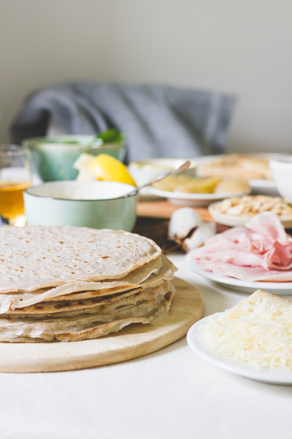 A Dinner Party of French Crepes and Buckwheat Galettes