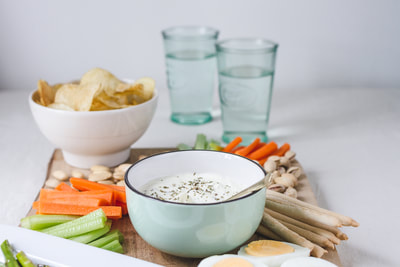 A delicious recipe for lemon and herbs whipped feta dip