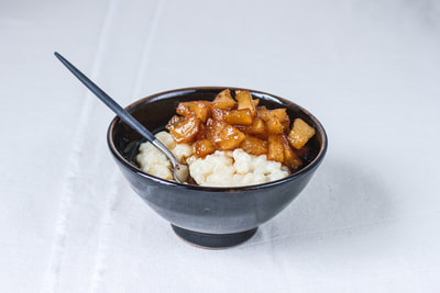 Rice Pudding with Caramelised Apples Recipe