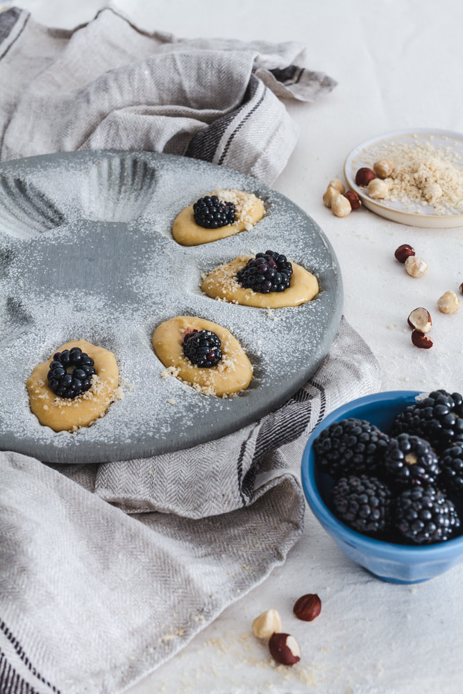 Blackberry and Hazelnut Madeleines Recipe