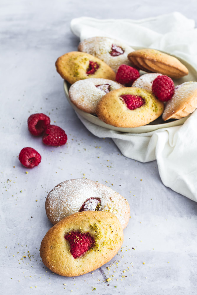 Raspberry and Pistachio Madeleines Recipe