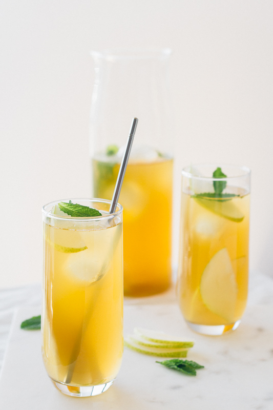 Pear, Vanilla and Mint Iced Green Tea Recipe