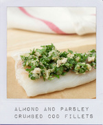 Almond and Parsley Crumbed Cod - On cremedecitron.com