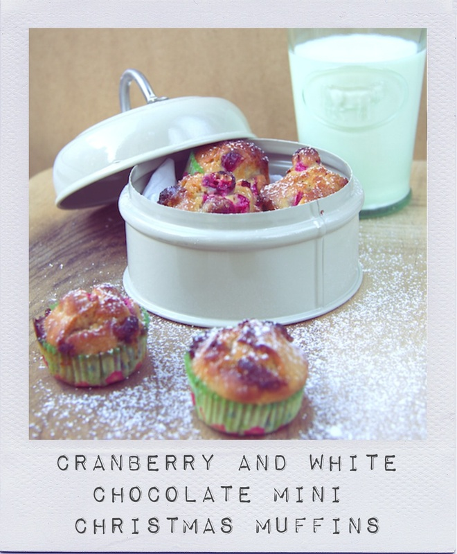 Cranberry and White Chocolate Mini Christmas Muffins