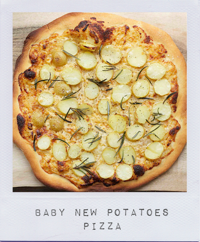 Baby new potatoes pizza - On cremedecitron.com