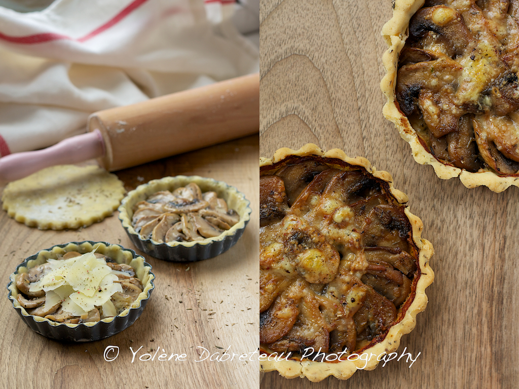 Mushroom and Comté Cheese Tartlets Recipe