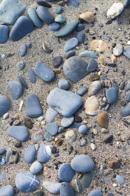 Pebbles on Killiney Beach, Ireland