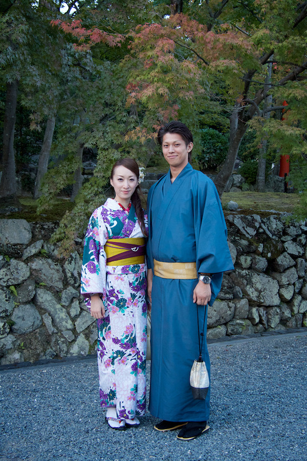 Dressed Up Couple in Kyoto, Japan