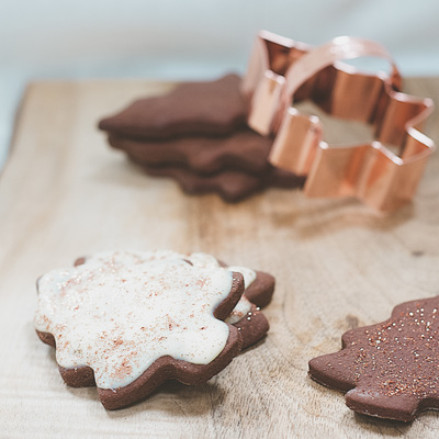 Chocolate gingerbread biscuits recipe for Christmas