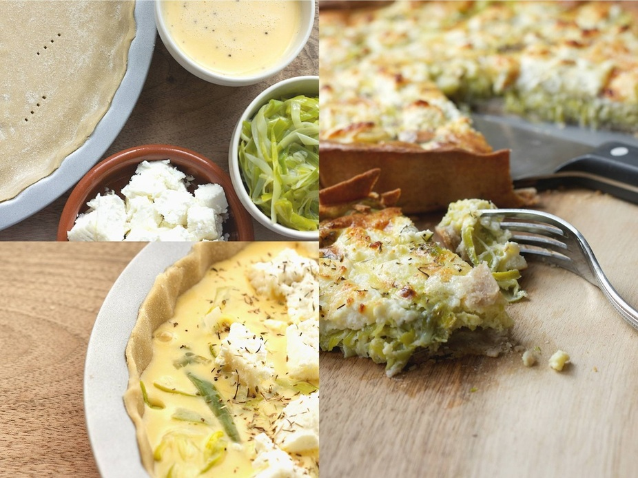 Leek and Goats Cheese Quiche Recipe