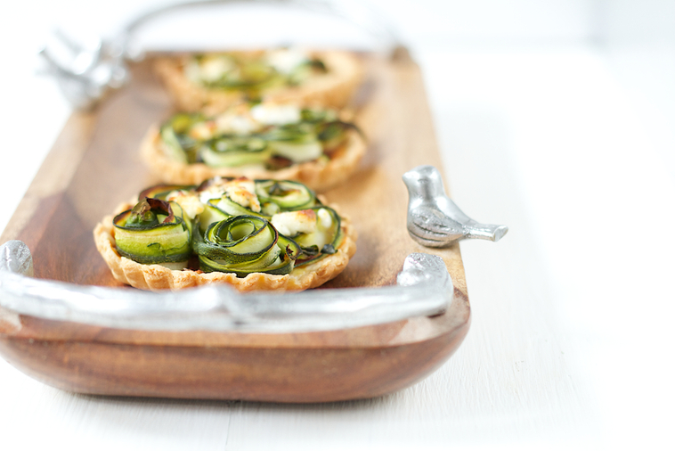 Courgette and Goats Cheese Tartlets Recipe
