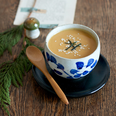 Butternut and chestnut miso soup recipe
